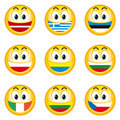 Smileys_flags_3 Royalty Free Stock Images