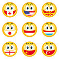 Smileys Flags 4 Stock Photography