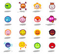 smileys icons set Royalty Free Stock Photo