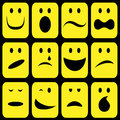 Smileys set Stock Images