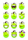 Smileys set of vector illustration isolated on a white background Stock Photography