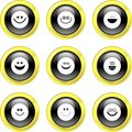Smilie icons Royalty Free Stock Photo