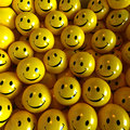 Smilies heureux jaunes Photo libre de droits