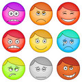 Smilies round, set Stock Image