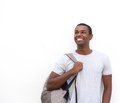 Smiling african american male student thinking Royalty Free Stock Photo