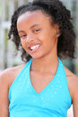 Smiling African American Teenager Girl Royalty Free Stock Image