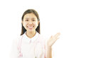 Smiling asian female nurse portrait of an Stock Images