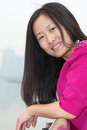 Smiling Asian Woman Stock Photo