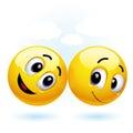 Smiling balls Stock Photo