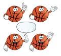 Smiling basketball set Royalty Free Stock Images
