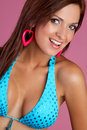 Smiling Bikini Woman Royalty Free Stock Photo