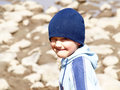 Smiling boy cute funny outdoor Royalty Free Stock Photography