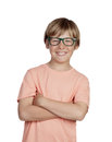 Smiling boy with glasses Royalty Free Stock Photo