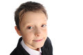 Smiling boy handsome curious schoolboy closeup portrait Royalty Free Stock Photo