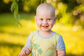 A smiling boy on the nature Royalty Free Stock Photo