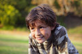 Smiling boy in the Park near Sunset Stock Photography