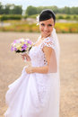 Smiling bride Stock Photos