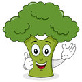 Smiling Broccoli Cute Cartoon Character Royalty Free Stock Photo