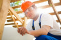 Smiling builder Stock Photography