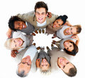 Smiling business people standing together Stock Photo