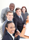 Smiling business team in a meeting Royalty Free Stock Photography