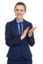 Smiling business woman clapping high resolution photo Stock Photos