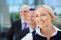 Smiling business woman with her Royalty Free Stock Photos