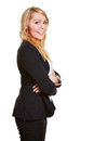 Smiling business woman in suit Stock Images