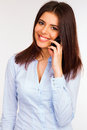 Smiling business woman talking on the phone beautiful Stock Photography