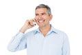 Smiling businessman phone calling Royalty Free Stock Photo