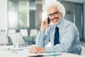 Smiling businessman on the phone Royalty Free Stock Photo