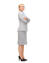 Smiling businesswoman with crossed arms Royalty Free Stock Photography