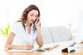 Smiling businesswoman having phone call Royalty Free Stock Photo