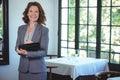 Smiling businesswoman taking notes Royalty Free Stock Photo