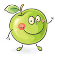 Smiling cartoon apple Royalty Free Stock Photo
