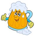 Smiling cartoon beer Royalty Free Stock Image