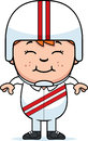 Smiling cartoon daredevil a illustration of a little Royalty Free Stock Image