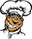 Smiling Cartoon Kitchen Chef with Hat Mascot Stock Image