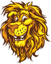 Smiling Cartoon Lion Mascot Graphic Royalty Free Stock Photo