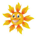 Smiling cartoon sun Royalty Free Stock Photos