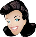 Smiling cartoon woman  Royalty Free Stock Images