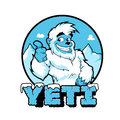 Smiling cartoon yeti vector illustration Royalty Free Stock Photo