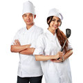 Smiling chef isolated over white Royalty Free Stock Photography
