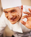 Smiling chef with positive gesture Stock Image