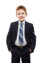 Smiling child boy in business suit Royalty Free Stock Photo