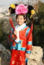 Smiling chinese ancient girl Stock Image