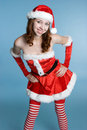 Smiling Christmas Girl Royalty Free Stock Photos