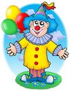 Smiling clown with balloons Royalty Free Stock Photo