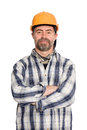 Smiling construction worker in helmet Royalty Free Stock Photos