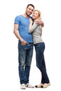 Smiling couple hugging love and family concept Royalty Free Stock Photos